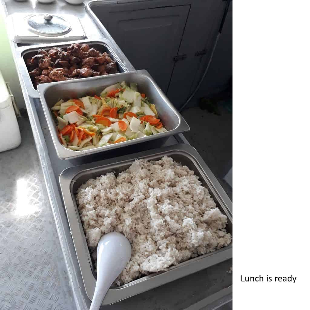Lunch is ready